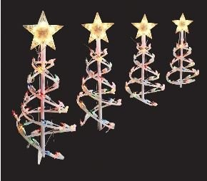 Home Accents Holiday 18 In Spiral Tree Pathway Lights - 1
