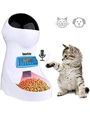 3L Futterautomat katze,Automatischer Futterspender für Hunde und Katzen, 4 Mahlzeiten Futterspender mit Ton-Aufnahmefunktion/Zeitmesser/LCD Bildschirmanzeige