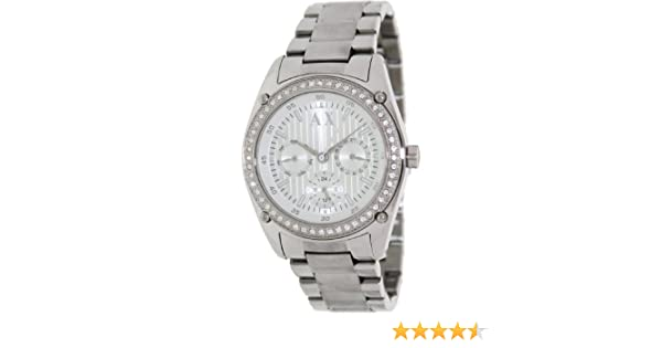 Amazon.com: Armani Exchange Crystal Accents Silver Dial Womens watch #AX5030: Armani Exchange: Watches