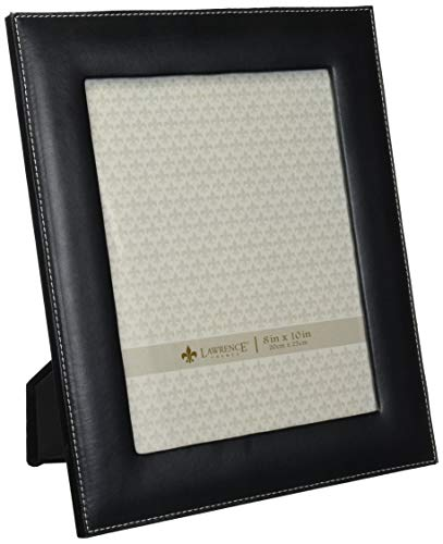 Lawrence Frames Black Leather 8 by 10 Picture Frame ()
