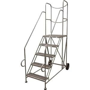 Cotterman Straddle Trailer Ladder W Cal Osha Rail Kit 5