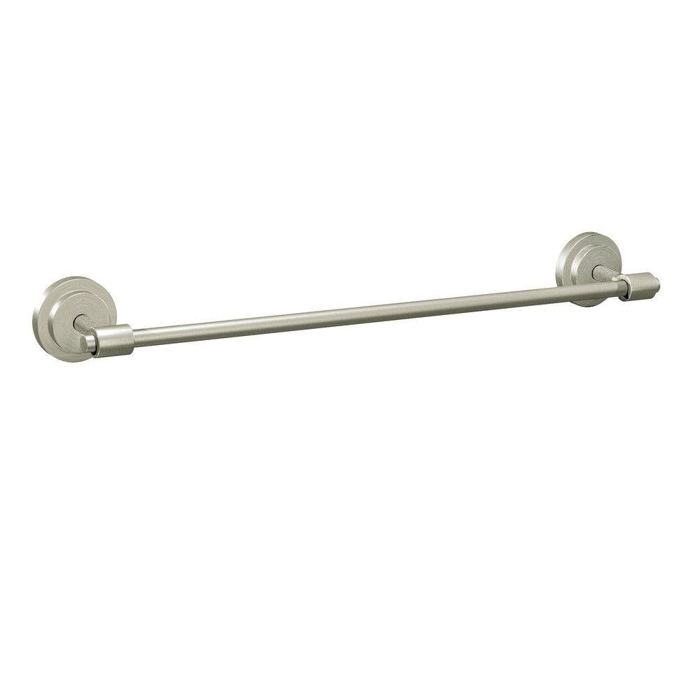 Moen DN0724BN Iso 24-Inch Towel Bar, Brushed Nickel