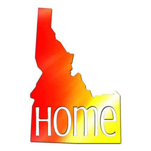 "Southern Decalz Idaho Home United States America - Vinyl Decal Sticker - 2.5"" x 3.75"" - Tye Dye from Southern Decalz"