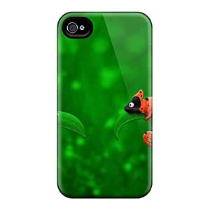 Defender Case With Nice Appearance (ladybug Chameleon) For Iphone 4/4s