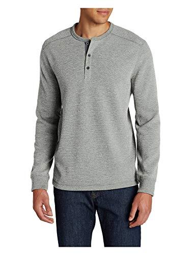 Eddie Bauer Men's Eddie's Favorite Thermal Henley Shirt, Lt HTR Gray Tall L -