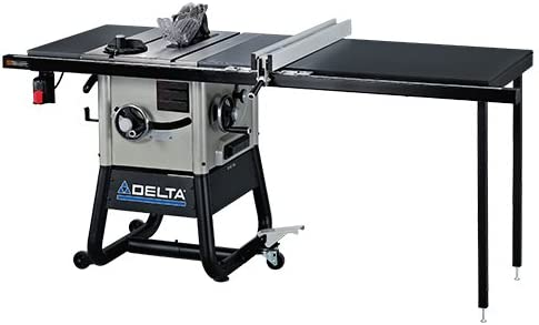 Delta 36-5052 10-Inch Left Tilt Contractor Saw with 52-Inch RH Rip Steel Wings