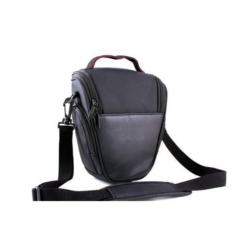 Easy Access Black PU Leather Camera Case for Canon EOS 1300D,1200D,4000D,2000D,100D 200D,800D 750D 700D,80D,77D,70D,7D,SX60, Nikon D3400,D3300,D3200,D7500,D5600,D5500,Panasonic FZ82,Sony HX400 Alpha DSLR