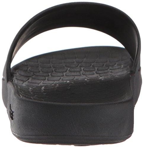 Lacoste Women's Fraisier Slide Sandal, Black Synthetic