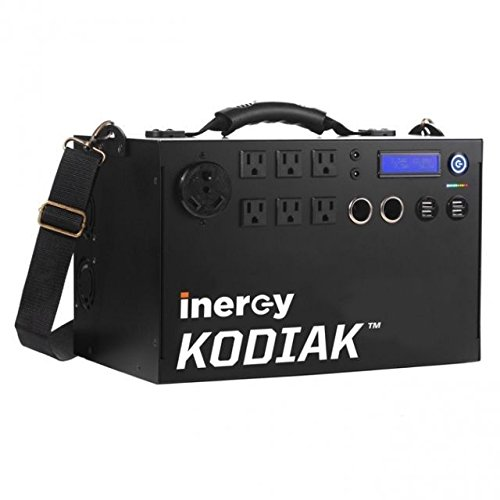 Inergy Kodiak 1100 Watt (1.1kWh) Power Bank Solar Generator - Basic Model - Lithium Ion Emergency & Camping Electric Battery Portable Power Source