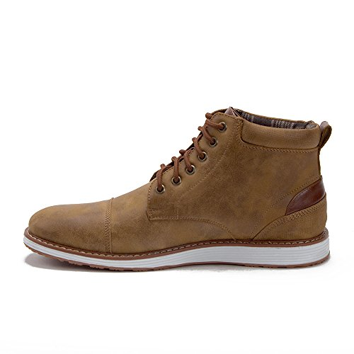 Mens 617138 Contrast Lace Up Ankle High Casual Sneakers Chukka Boots Brown rUDA9ziY