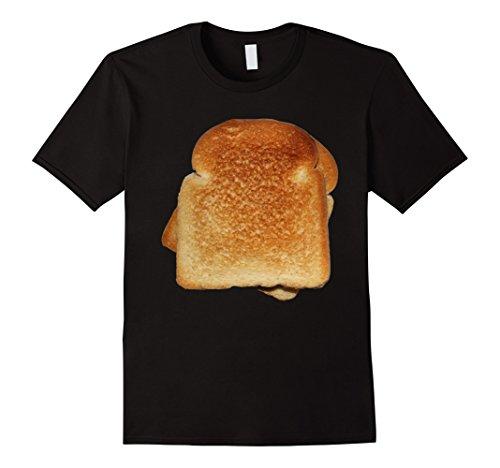 Mens Bread Toast T-Shirt Halloween Costume Matching Gift Tee Large Black