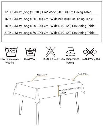 Ins Tafelkleed Stoelhoes Waterdicht Anti-Hot Tafelkleed met Herten Patroon Tafelhoes Anti-Vuile Stoelhoes Thuis, Wit-140x180cm