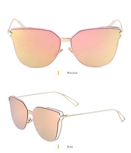 GEELOOK Womens Retro Vintage Mirrored Aviator Sunglasses Metal Frame Classic - Glass Reyban