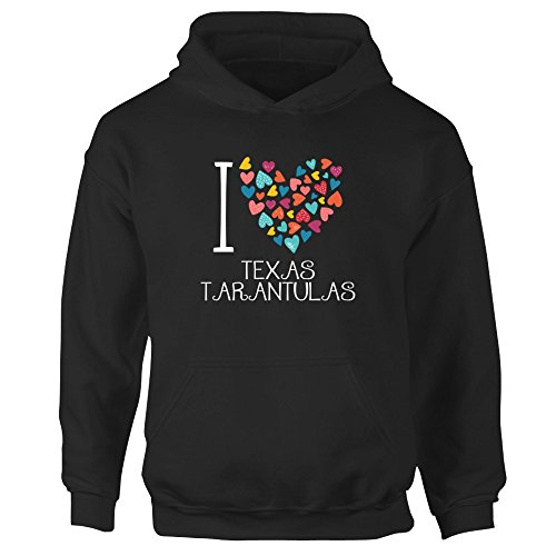 [Idakoos - I love Texas Tarantulas colorful hearts - Animals - Girl Hoodie] (Tarantula Kids Hoodie)