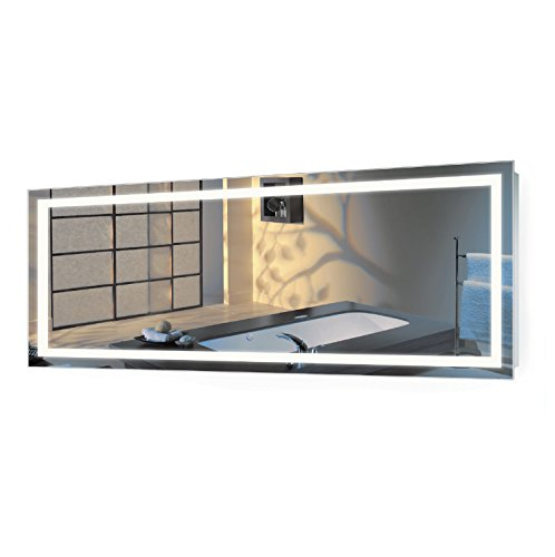 Krugg | Large 72 Inch X 30 Inch LED Bathroom Mirror | Lighted Vanity Mirror Includes Dimmer & Defogger | Wall Mount Vertical or Horizontal Installation |