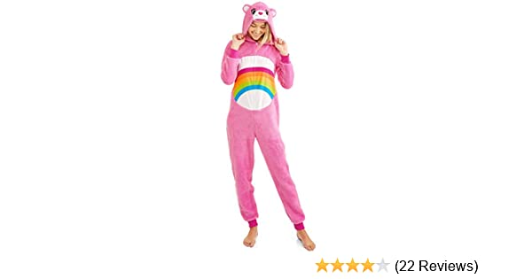 Amazon.com: Briefly Stated Care Bear Cheer Pink Womens Union Suit Pajama Costume: Clothing