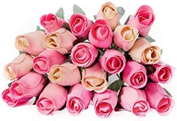 Wedding Flowers Wooden Roses In WhiteLight Pink Anniversary Gift Gifts for Mom Gifts for Her 8 Single Rose Stems Tied In A Bunch