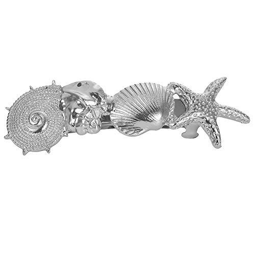 Fashion Women Starfish Shell Conch Barrette Spring Hairpin Hair Clip Headwear - Silver