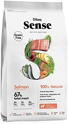 Dibaq Sense Grain Free Salmón. Alimento 100% Natural para perros. 2 Kg.