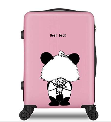 ファッショントロリーケースユニバーサルホイール漫画スーツケースかわいいプリントギフトスーツケース24インチ B07MK1VVKX