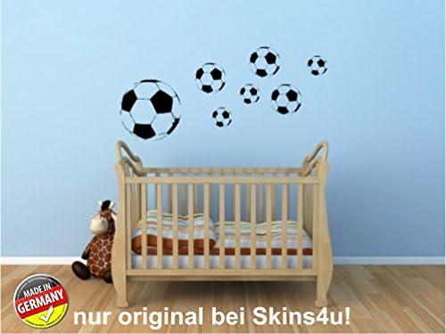 Pared Adhesivo Decorativo Balones de Fútbol y fútbol (7 Unidades ...