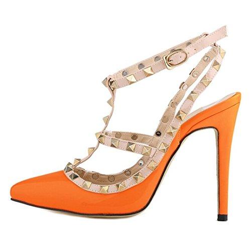 Azbro, Sandali donna arancione Size: EURO41/US10/UK8