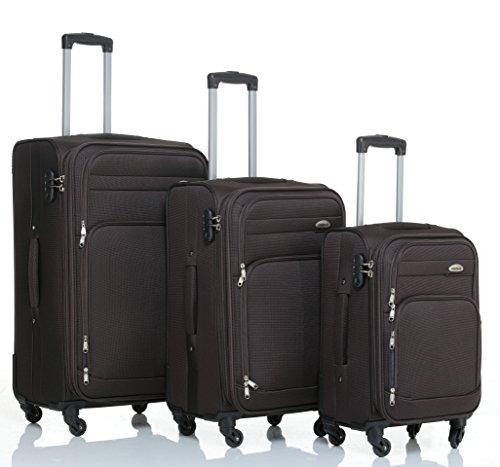 8005 3 piezas, 4 ruedas de maletas duras tela maleta conjunto de equipaje maleta de viaje en 5 coloures