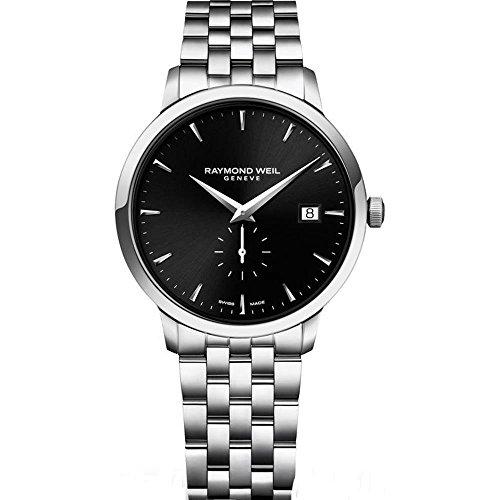 Raymond Weil 5484-ST-20001 39mm Silver Steel Bracelet & Case Anti-Reflective Sapphire Men's Watch - Raymond Weil Sapphire Wrist Watch