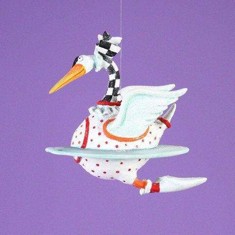 Patience Brewster 12 Days - Day 7 Mini Swan A Swimming Christmas Figural Ornament 08-30642 12 Days Seven Swans Ornament