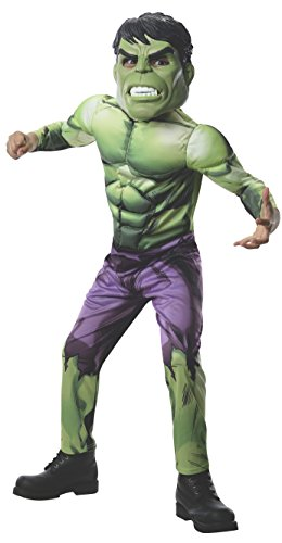Rubies Marvel Universe Classic Collection Avengers Assemble Deluxe Incredible Hulk Costume, Child (Disney Villain Costume)