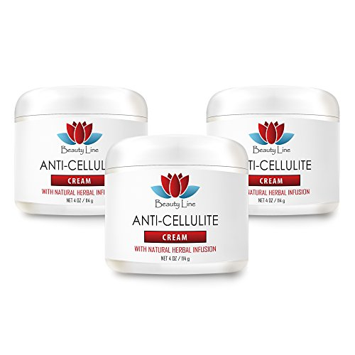 Skin toner for body - ANTI CELLULITE CREAM (with Natural Herbal Infusion) - Anti cellulite items - 3 Jars