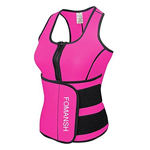 fomansh neoprene waist trainer vest sauna suit sweat vest