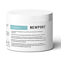 20% Glycolic Acid Pads and Exfoliating Face Cleansing Wipes for Targeted Adult Acne Treatment. Dermatological-Strength AHA in a Transformative Skin Peel for Face and Neck