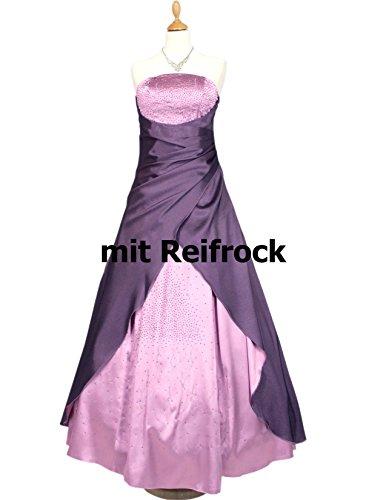Langes vers Rosa Christine Satin Farben amp; Alt Damen Gr 56 34 Abendkleid Star Ballkleid JuJu Diamante UEA4qRxz