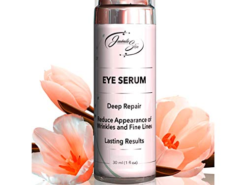 Juvénile Skin Vitamin C Eye Serum with Hyaluronic Acid, Retinol and Collagen - Natural Eye Lift Serum and Moisturizer To Reduce Dark Circles, Under Eye Bags, Puffiness, and Wrinkles - 30ml