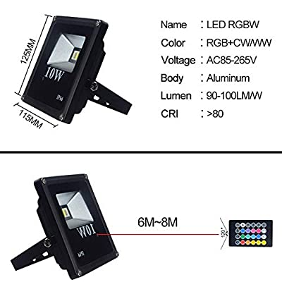 RGB Cool White, AU : 10W RGBW LED Floodlight IP66 Waterproof 85-265V LED RGBW Diode Spotlight Projector EU/US/UK/with Remote Controller