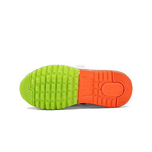 Kinder Unisex Gr眉n Jungen Farbe Aufhellen USB VILOCY 6 Lade Leuchtend EU31 LED M盲dchen Sneaker HRAqd15