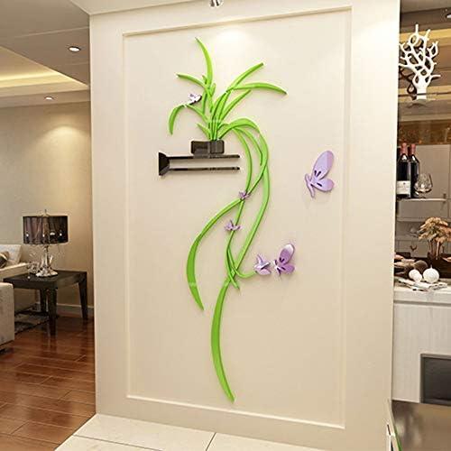 吊蘭 テレビの壁の装飾 壁紙 壁紙はがせる かわいい おしゃれ 壁紙シール 壁飾り 装飾