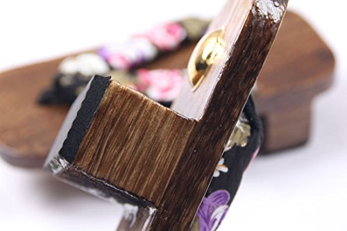 Giapponese EU36 Sandali Zoccoli Cosplay Tradizionale Di Blu 39 NSPSTT Legno Donna xZqgtt
