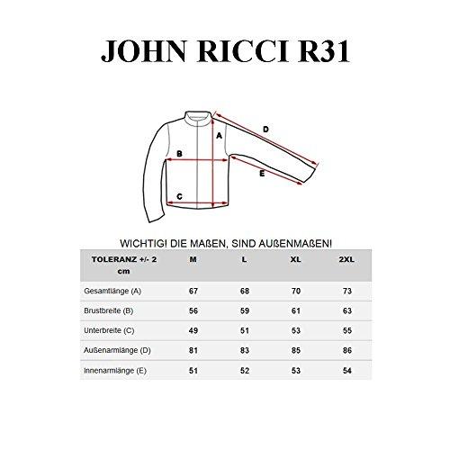 Uomo Cerniera Giacca Bolf John Con R31 Cappuccio Nero Ricci – aaIOq8