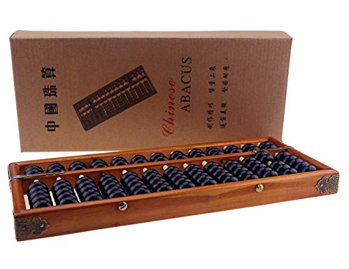 Wowlife 13 Rods Wooden Abacus Chinese Calculator Counting Tool