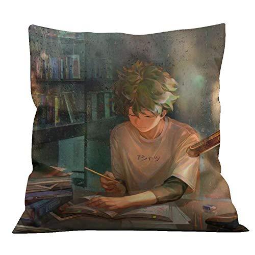 Double Sided 14' Pillow - Raleighsee My Hero Academia Anime Cartoon Image Double-Sided Printing Pillow Cushion Izuku Midoriya Bakugou Katsuki Todoroki Shoto Anime Fans Gift-35 35 cm/14'' 14'