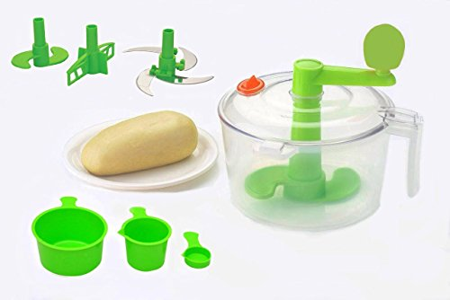 Slings Atta Dough Maker with Beater, Chop & Churn 3In1, Green