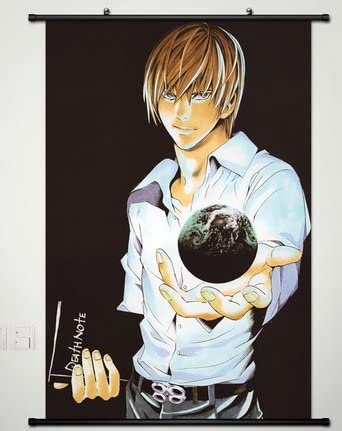 Death Note Yagami Light Anime Wall Art Poster Scroll Home Decoration