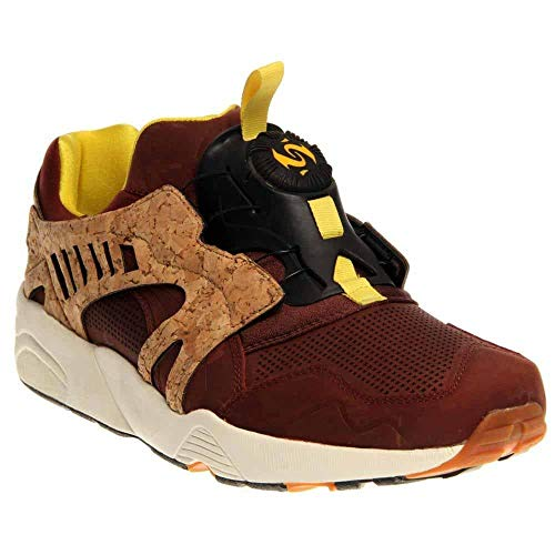 PUMA Mens Leather Disc Cage Lux Running Casual Shoes,