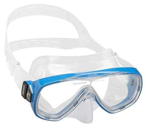 Cressi Tauchmaske Onda Gafas de Snorkeling, Unisex, Transparente/Azul