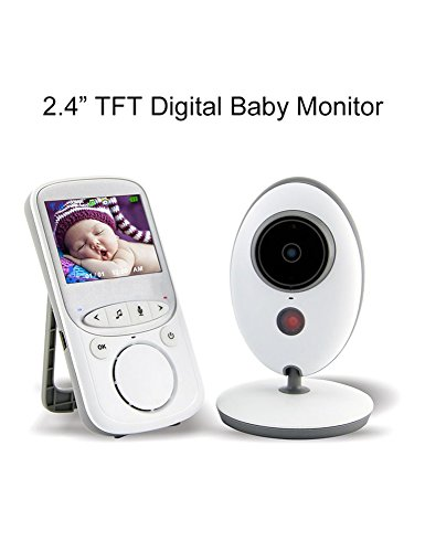 PeterIvan Baby Monitor with Camera - 2.4GHz Video Baby Monitor with Video and Audio, Infant Monitor with 2 Way Baby Monitor, Music, Night Vision&Temerature Monitoring for Baby Security Monitoring