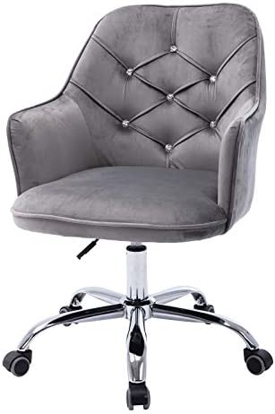 Goujxcy Home Office Chair,Velvet Desk Chair