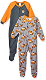 Gerber Baby Boys 2-Pack Blanket Sleeper, Orange/Grey fox, 3-6 Months