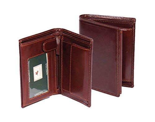 Herren Echtes Braun Leder Geldbörse Neueste Hochwertige Kreditkarten ID Notizen Münzen Sektionen Boxed - Roy